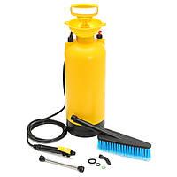 8L Переносная моечная машина высокого давления Насос Spray Авто Wash Щетка Шланг Lance Cleaner