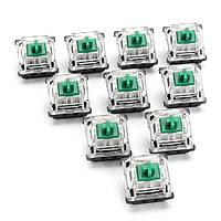 10PCS 3 Pin Green Switch для Механический Gaming Клавиатура