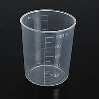 100 мл Пластиковые градуированные испытания Измерение Цилиндровые чашки для контейнеров Жидкость для лабораторных лабораторий