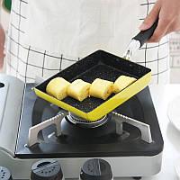 Пылающая сковорода Антипригарная бездымная горшка с квадратной сковородкой