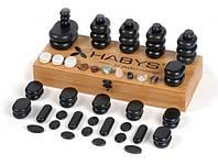 Набор бальзатовых камней для массажа 64 шт Habys