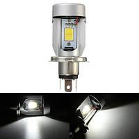 Мотоцикл 20W 2000LM 6500K H4 LED Hi/Lo Driving Лампа White Headlight Bulb