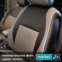 Чехлы для Mazda 3, Черный + Серый цвет, Экокожа