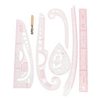 Прозрачная прямая кривая Правительская линия для рисования линии пошива швейной одежды Дизайн Инструмент