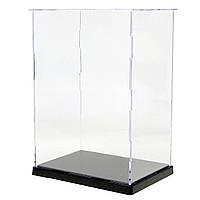 19x14x26.5cm Clear Acrylic Дисплей Показать Чехол Коробка Пластиковый пылезащитный лоток