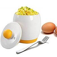 МикроволноваяпечьяйцаПлитаПортативнаяДизайн С крышкой Мгновенный скремблированный Керамический яйца Браконьер