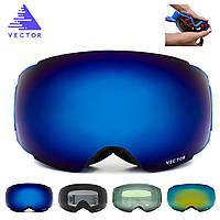 VECTOR Ski Goggles Double UV400 Анти Fog Big Маска Очки Катание на лыжах Профессиональный снежный сноуборд