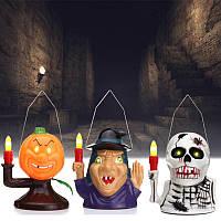 Halloween Party Домашнее украшение Поставки Портативный светящий призрак Лампа Игрушки для детей Детский подарок