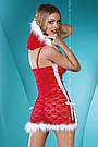 Полупрозрачный кружевной костюм снегурочки, фото 3