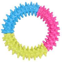 Yani DCT-5 Собака Squishy Thorn Ring Chew Toy Rubber Multicolor Circle Зубной Здоровые игрушки для обучения