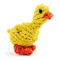 Yani DCT-1 Chew Собака Игрушка Duck Yellow Прочный плетеный хлопок Веревка Укус устойчивый Собака Чистка зубов