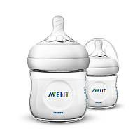 AVENT2pcs125млДетскаябутылочка для кормления грудью Младенческая натуральная полипропиленовая бутылка для молока