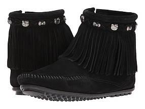 Ботинки/Сапоги (Оригинал) Minnetonka Hello Kitty Fringe Boot Black