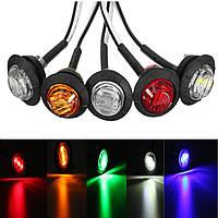 12V/24V Mini Round LED Пуля Сторона Marker Lights Metal