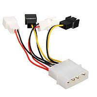 Excellway® 4 x 2Pin Вентиляторы для D-типа 4Pin Molex Power Y-Splitter Cable 12v / 5v Для вентиляторов ПК
