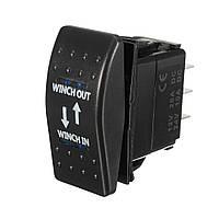 12V 20A (ON) -OFF- (ON) Переключатель манекена Моментальная лебедка в Winch Out LED 7-контактный