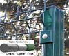 Столб для ограды 2.5 м с ПВХ