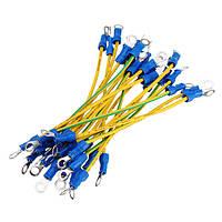 Excellway® 20pcs RV1.25-4S Коннектор Клеммы Провод Двойная головка