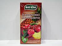 Фруктовый чай Belin с ароматом клюквы и ананаса 20 пак, фото 1