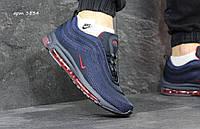Кроссовки Nike Air Max 97, синие с красным