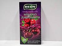 Фруктовый чай Belin с ароматом вишни и клюквы, 20 пак.