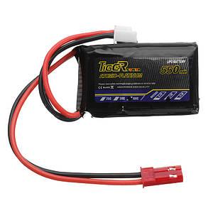 Tiger Power 7.4V 550mAh 60C 2S Lipo Батарея JST Plug, фото 2