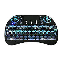 2.4GHz Wireless 7 Colours Rainbow Backlight Клавиатура с сенсорной панелью Мышь для телевизора Коробка / Smart TV / ПК