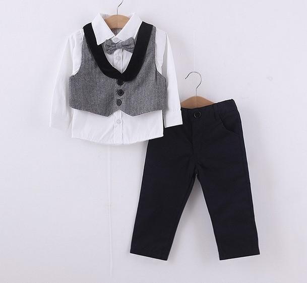 17fbf672e59 Комплект детский рубашка с жилеткой и штаны для мальчика