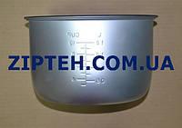 Чаша для мультиварки универсальная D=235mm,H=145mm (внутри черная,гладкое дно)