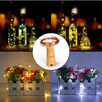 Батарея Приведенный в действие 15LEDs Cork Shaped Wine Bottle Night Fairy String Light для рождественской вечеринки