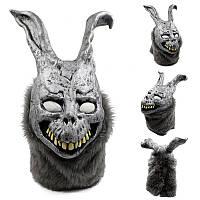 Охота Латекс Страшные животные-кролики Маска Ужас для полного лица Cosplay для Хэллоуина