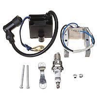 Катушка зажигания CDI Magneto для моторизованных 49cc 66cc 80cc Двигатель Велосипед Spark Plug