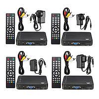 Mini Full 1080P HD Авто Мультимедийный проигрыватель TV BOX 3 Выходы VGA / AV USB и SD Автоd