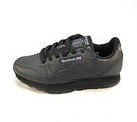 Кроссовки Reebok Classic Leather черные унисекс (р.36,39)
