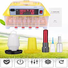 Инкубатор автоматический INC-48 на 48 яиц. Электронный контроль температуры и влажности.