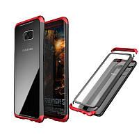 LuphieМеталлическийбампер+9HЗакаленное стекло Задняя обложка Чехол Для Samsung Galaxy S8 Plus
