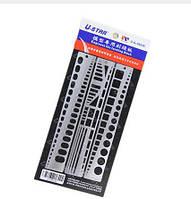 USTAR UA90036 Моделирование Инструмент Хобби Craft Набор Списывание маркера Scribe Line Инструмент Модель и наборы Engrave Инструмент Metal Ruler