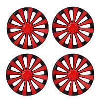 Колпаки колес Star GMK Red Black R13 (карбон)