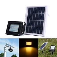 Солнечная Приведено в действие 54 LED Датчик Теплая белизна света потока На открытом воздухе Водонепроницаемы IP65 Сад Безопасность Лампа