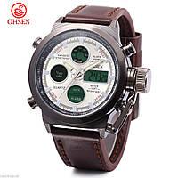 Часы  OHSEN AD1601 реплика AMST watch 3003 в подарочной коробке!!! Коричневый ремешок!