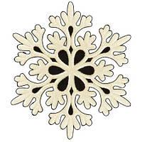 Снежинка 6.5см 6шт/уп J01147 (1500уп)