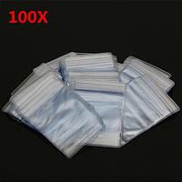 100Pcs 7X10cm Повторно закрываемый Ziplock Сумка PVC Clear Self Adhesive Seal Ring Сумки
