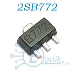 2SB772, (B772), (A71151), транзистор биполярный, PNP 40В 3A, SOT89