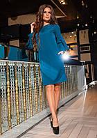 Платье нарядное из трикотажа с стразами полу батал