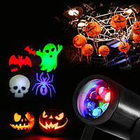 3W 4 Patterns RGB Вращающийся Лазер Проигрыватель LED Декоративный свет Halloween Christmas Party Bar Decor Лампа