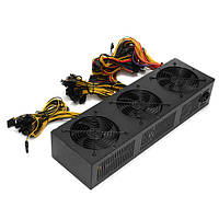 2600W Mining Rig Power Supply Ethereum Bitcoin Miner Power Supply 12 GPU для биткойн-шахтеров