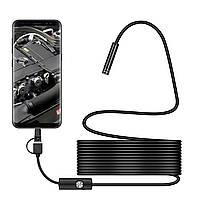 Bakeey 3 в 1 7мм 6Led Тип-С Micro USB эндоскоп инспекция камера Мягкий кабель для ПК Android