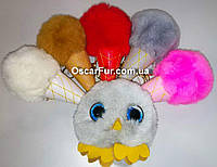Брелки из натурального меха - разные цвета, фото 1