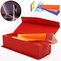 6-дюймовое трехугольное призматическое стекло с оптическим стеклом в Коробка Physics Lighting Light Spectrum