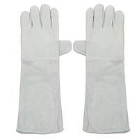W eldin g Glove s Long Манжеты Мягкая кожаная сварка Защитная Перчатки Heat Gear Fireproof Водонепроницаемы